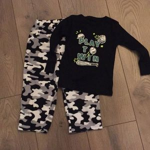 Cat and Jack Pajama Set Sports & Camo ⚾️